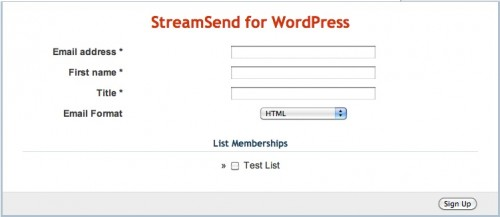 StreamSend WordPress Plugin