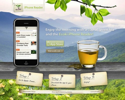 The Ecoki iPhone Reader App