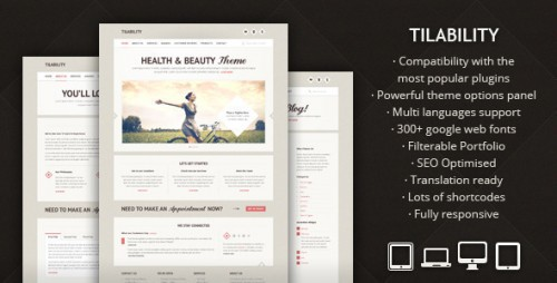 Tilability Health & Beauty WP Theme