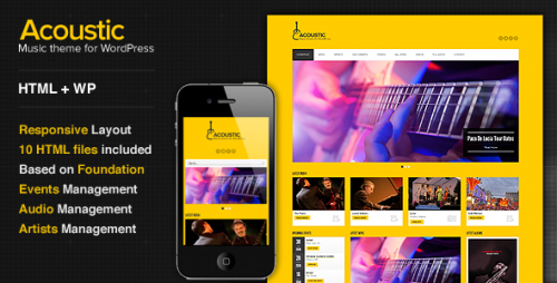 Acoustic - Premium Music WP Theme