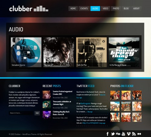 Clubber - Events & Music WP Theme