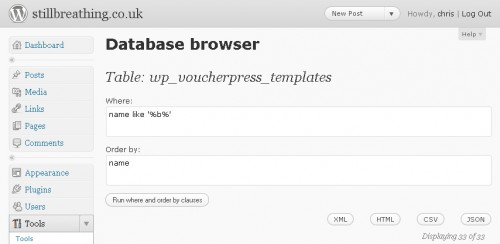 Database Browser