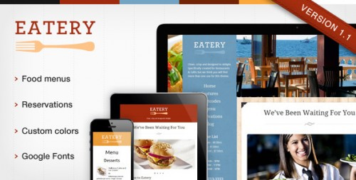 Eatery - Responsive Restaurant WP Theme