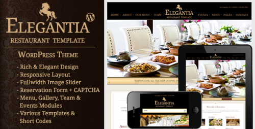 Elegantia - Restaurant and Cafe Theme