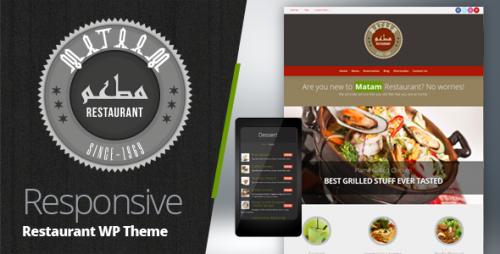 Mataam Restaurant - Responsive WP Theme