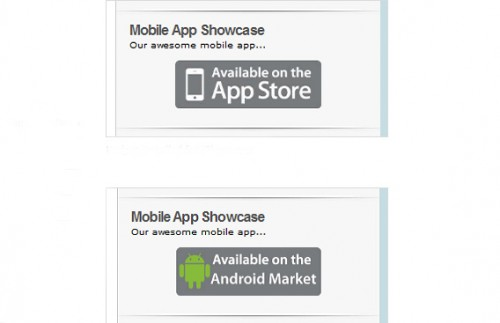 Mobile App Showcase Widget
