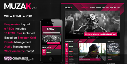 Muzak - Music Premium WP Theme