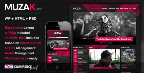 Muzak - Music Premium WP Theme
