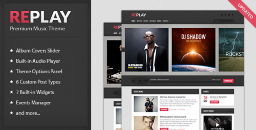 Replay - Responsive Music WordPress Theme
