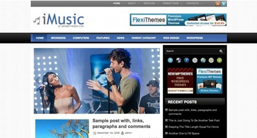 WordPress iMusic