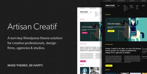 Artisan Creatif - WordPress Portfolio Theme