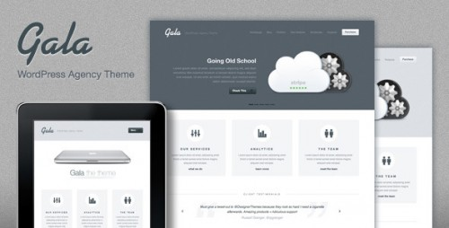 Gala, a Tasty Mac-inspired Agency WP Theme
