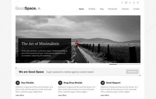 Good Space - Responsive Minimal WP Theme