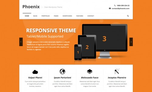 Phoenix - Clean Responsive WP Theme