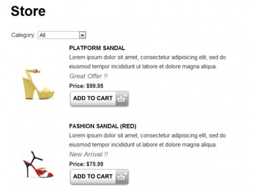 Ecommerce Shopping Cart Plugin