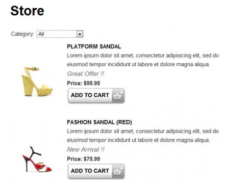 Ecommerce Shopping Cart Plugin