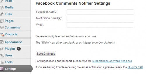 Facebook Comments Notifier
