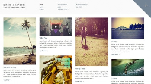 Brick + Mason: Photography and Blog Theme