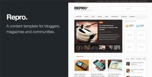 Repro - WordPress News, Magazine Theme