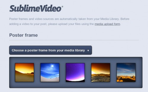 SublimeVideo - HTML5 Video Player