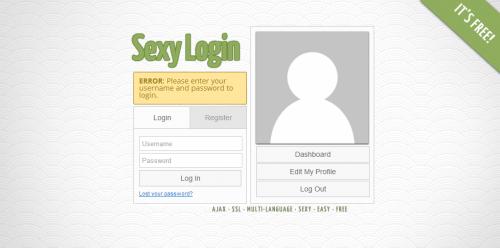 Sexy Login