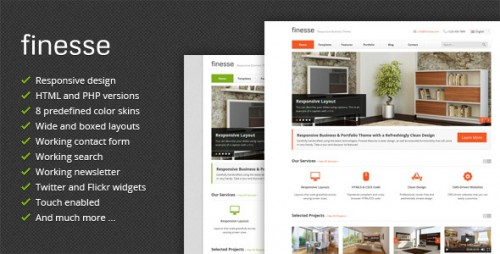 Finesse - Responsive Business HTML5 Template