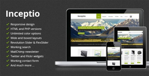 Inceptio - Responsive Multi-Purpose Template