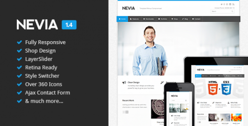 Nevia - Responsive HTML5 Template