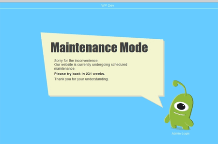 Best wordpress maintenance plugins to free download wpjuices for Maintenance mode html template