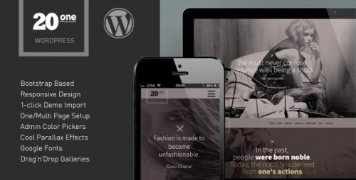 20one - Onepage WordPress Theme