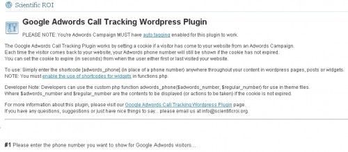 Google Adwords Call Tracking