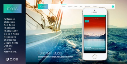 Ideas - Fullscreen Responsive WP Theme