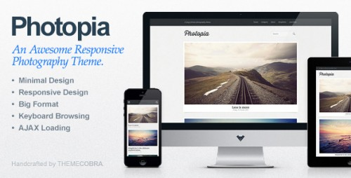 Photopia - Minimalist Photography WP Theme