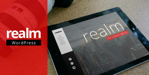 REALM - One Page Parallax Retina WP Theme