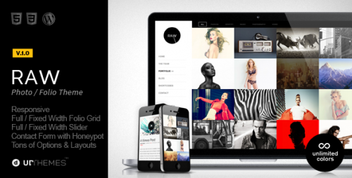 Raw - Responsive Photography WP Theme