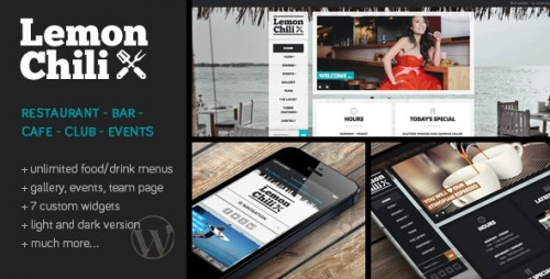 LemonChili - Restaurant WordPress Theme