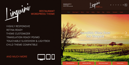 Linguini: Restaurant Responsive WP Theme
