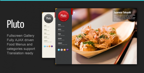 Pluto Fullscreen Cafe and Restaurant Theme