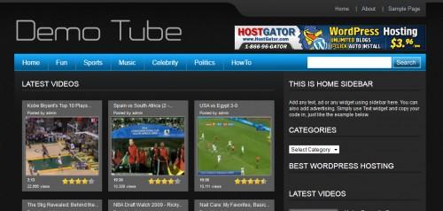 Free WordPress Tube Theme