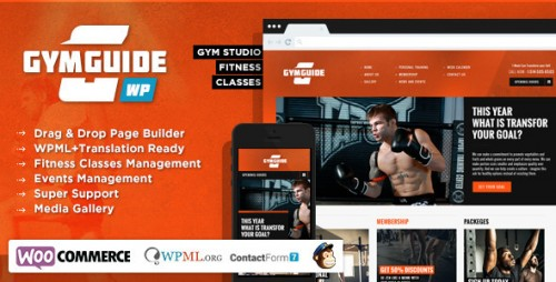 Gym Guide - Fitness Sport WordPress Theme