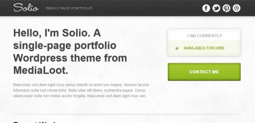 Solio - WordPress Theme