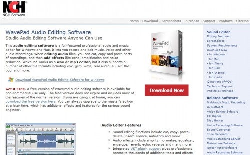 WavePad Audio Editing