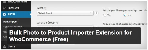 Bulk Photo to Product Importer Extension