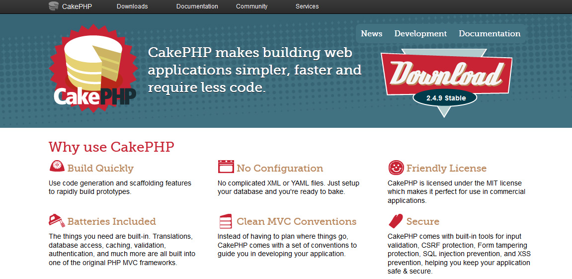 cake php This course introduces php developers to the six most popular model-view-controller (mvc) frameworks—zend, symfony, codeigniter, cakephp, yii, and laravel.