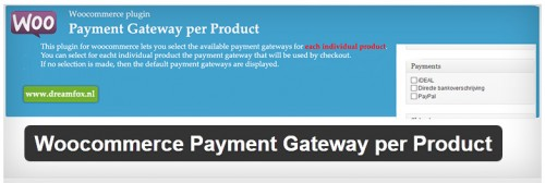 Woocommerce Payment Gateway per Product