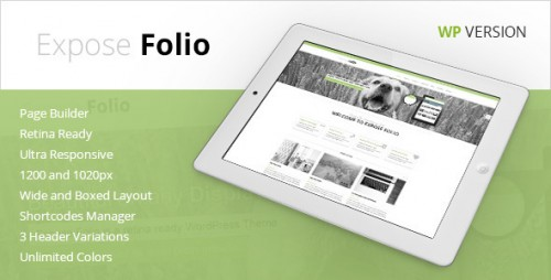 Expose Folio - Multipurpose WordPress Theme