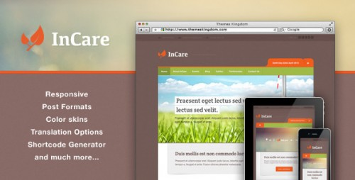 InCare - Responsive Eco, NonProfit WordPress Theme