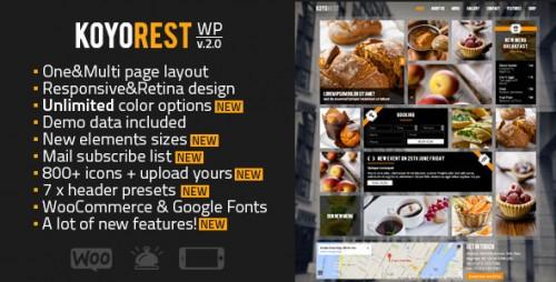 Koyorest - Responsive Retina Restaurant WP Theme