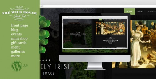 The Wild Rover - WP Theme For Irish Pubs
