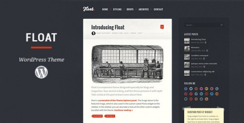 Float - Responsive WordPress Blog Theme